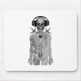 skeleton head phones double swallow eight ball mouse pad