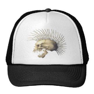 Skeleton Head Punk Trucker Hat