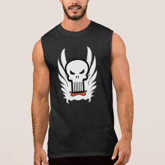 Skeleton Head Skull Wings T-Shirt
