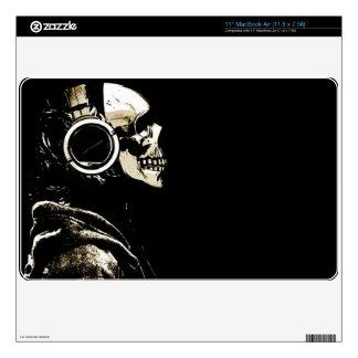 skeleton headphones Skin For Laptop Skins For The MacBook