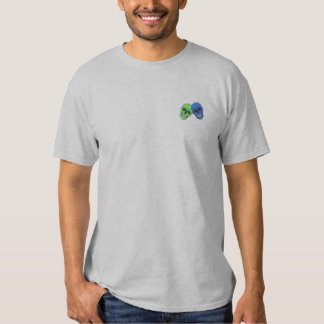 Skeleton Heads Embroidered T-Shirt