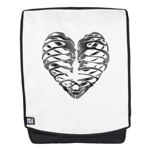 Skeleton Heart Halloween Funny Gifts Backpack