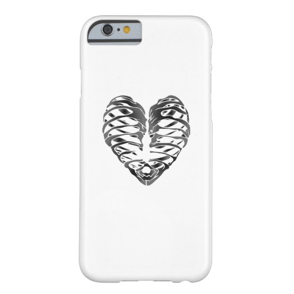 Skeleton Heart Halloween Funny Gifts Barely There iPhone 6 Case