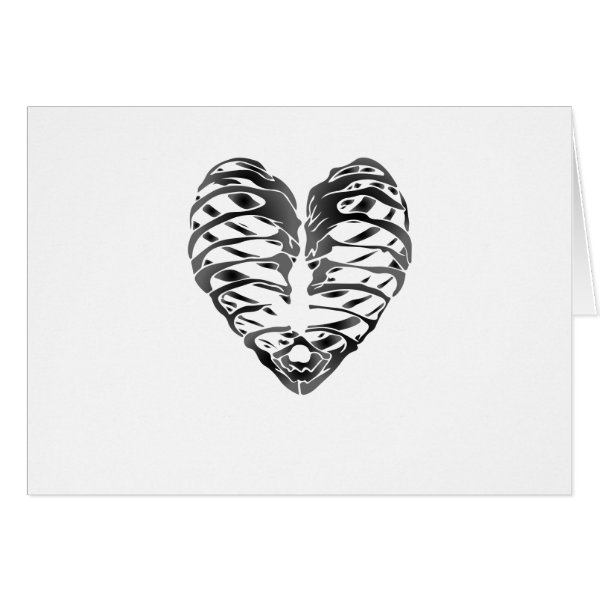 Skeleton Heart Halloween Funny Gifts Card