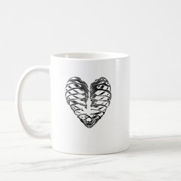 Halloween Themed Skeleton Heart Halloween Funny Gifts Coffee Mug