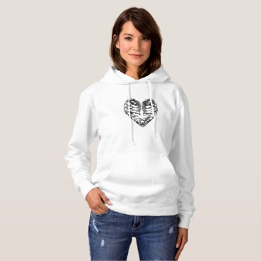 Halloween Themed Skeleton Heart Halloween Funny Gifts Hoodie