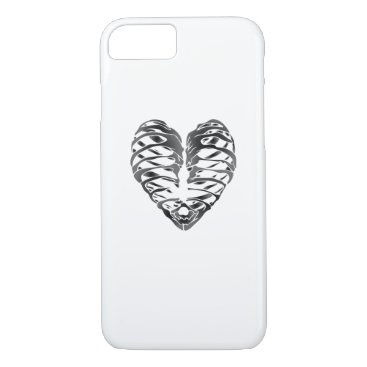 Halloween Themed Skeleton Heart Halloween Funny Gifts iPhone 8/7 Case
