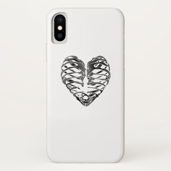 Skeleton Heart Halloween Funny Gifts iPhone X Case