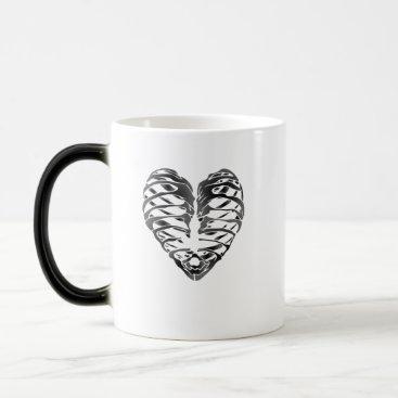 Halloween Themed Skeleton Heart Halloween Funny Gifts Magic Mug