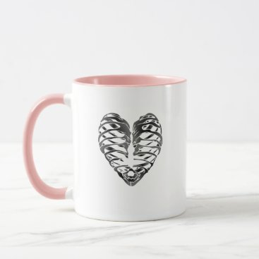 Halloween Themed Skeleton Heart Halloween Funny Gifts Mug