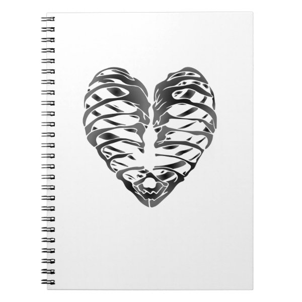 Skeleton Heart Halloween Funny Gifts Notebook