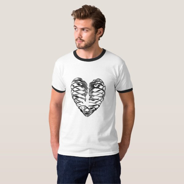 Skeleton Heart Halloween Funny Gifts T-Shirt