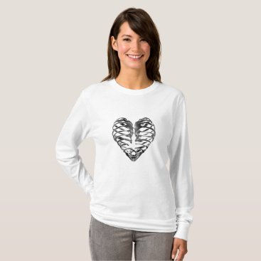 Halloween Themed Skeleton Heart Halloween Funny Gifts T-Shirt