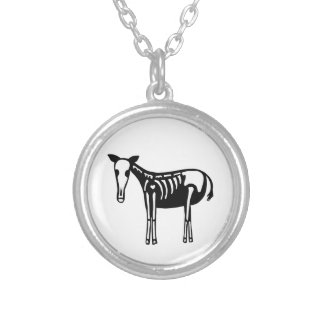 Skeleton Horse Silver Plated Necklace