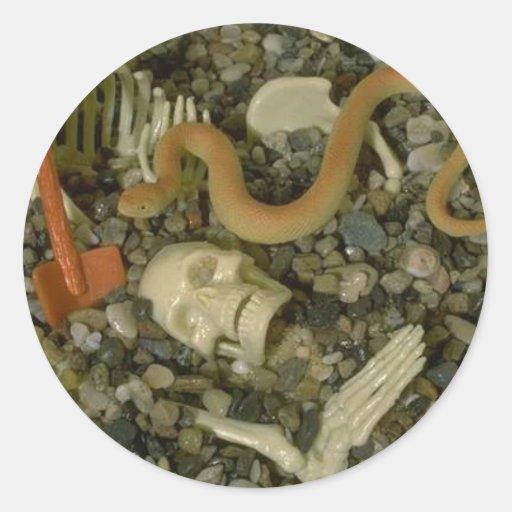 Skeleton Humor Classic Round Sticker
