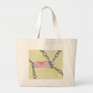 skeleton in chains bag