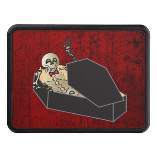 skeleton in coffin hitch cover