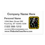 Skeleton in colorful box graphic halloween business card