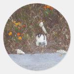 Skeleton in Marigolds Classic Round Sticker