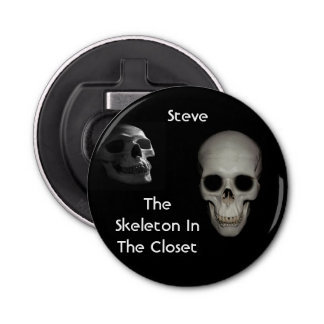 Skeleton In the Closet Personalized Bottle Opener