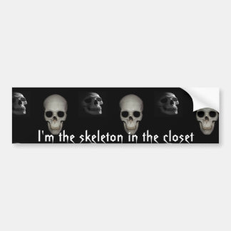 Skeleton in the Closet Personalized Bumper Sticker