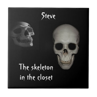 Skeleton in the Closet Personalized Tile