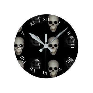 Skeleton In the Closet Round Clock