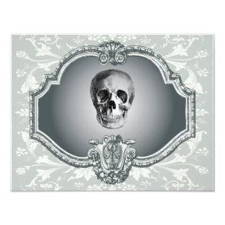 Skeleton In The Mirror Halloween Card