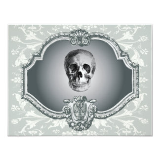 Skeleton In The Mirror Halloween Custom Invite