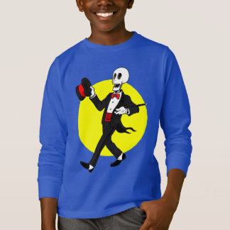 Skeleton in Tuxedo Suit T-Shirt