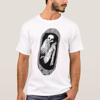 Skeleton in Wooden Tomb T-Shirt