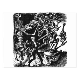 Skeleton Jam Band postcard