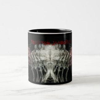 Skeleton Jamboree Two-Tone Coffee Mug