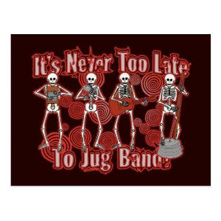 Skeleton Jug Band Postcard
