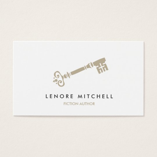 SKELETON KEY BUSINESS CARD FOR AUTHORS & WRITERS