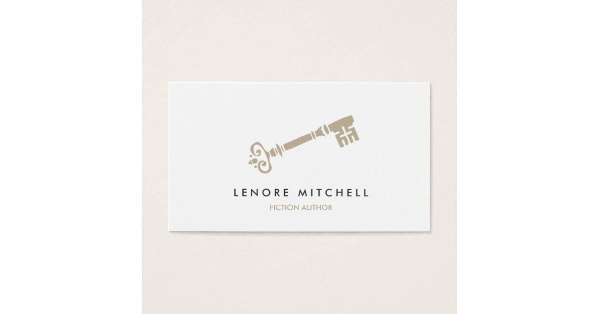 SKELETON KEY BUSINESS CARD FOR AUTHORS & WRITERS | Zazzle.com