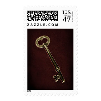 Skeleton Key Design Postage