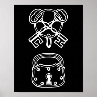 Skeleton Key & Lock Print