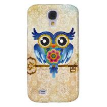 Skeleton Key Owl Samsung Galaxy S4 Cover