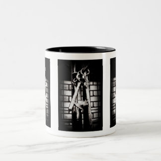 Skeleton Keys and Brick Wall Two-Tone Coffee Mug