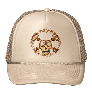 Skeleton Keys Biker Trucker Hat