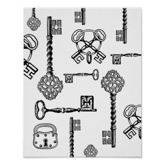 Skeleton Keys & Locks Poster