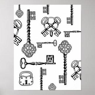 Skeleton Keys & Locks Posters