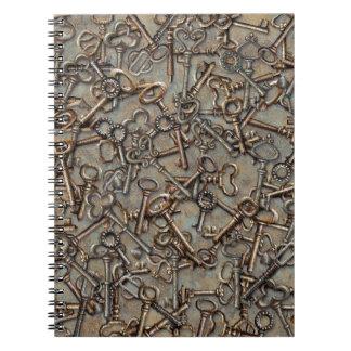 Skeleton Keys Spiral Notebook