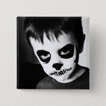 Halloween Themed Skeleton Kid (2 inch pin) Pinback Button