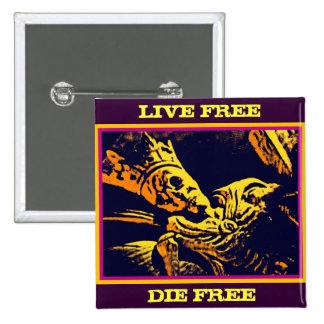 """SKELETON KING """"LIVE FREE, DIE FREE"""" PINS"""