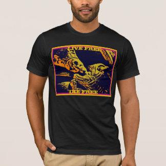 "SKELETON KING ""LIVE FREE, DIE FREE"" MEDIEVAL COOL T-Shirt"