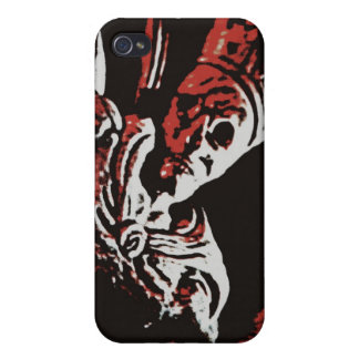 "SKELETON KING ""LIVE FREE, DIE FREE"" ROCK AND ROLL iPhone 4 COVER"