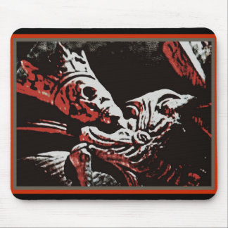 "SKELETON KING ""LIVE FREE, DIE FREE"" ROCK AND ROLL MOUSE PAD"