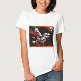 """SKELETON KING """"LIVE FREE, DIE FREE"""" ROCK AND ROLL T-Shirt"""